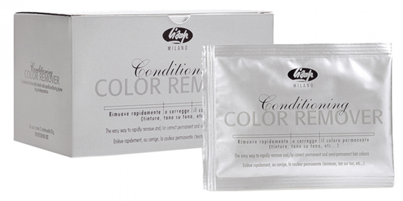 обесцвечивание волос lisap milano color remover смывка - упаковка 12 пакетиков